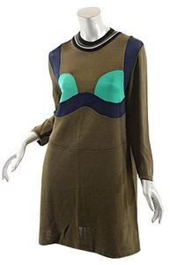 Prada short dress Brown, Green, Black Milano on Tradesy