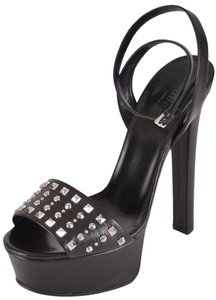 Gucci Heels Sandals Studded Black Platforms