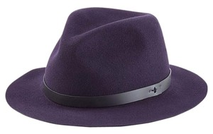 Rag & Bone Size Medium Wool Fedora in Purple