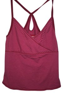 UNIONBAY Midriff Cami Top Red and Pink