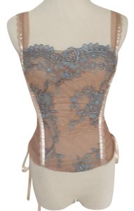 Flora Nikrooz Top Nude and Light Blue.
