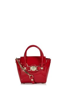 Versace Leather Satchel in red