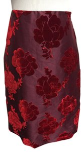 Prada Cocktail Velvet Skirt Wine Red/Black