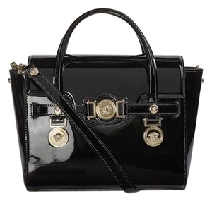 Versace Leather Satchel in black