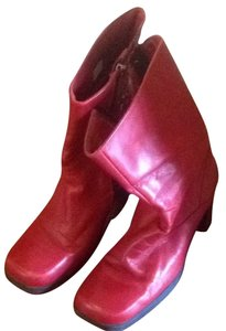 Tommy Hilfiger Red Boots