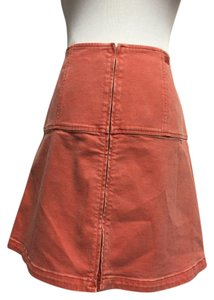 Chanel Jeans Mini Skirt Faded Orange