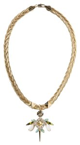 Anthropologie Pointed Pendant Braided Necklace by Dana Lorenz