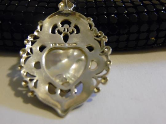 Colleen Lopez Colleen Lopez Marcasite Mother Pearl Heart Cameo