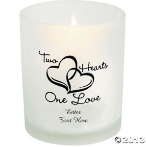 White Battery-operated Tealight Glass Holders Votive/Candle