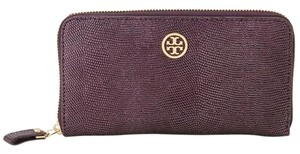 Tory Burch Tory Burch women's Brittany Wine Tasting Zip Continental Leather Wallet 41139100 MSRP $250