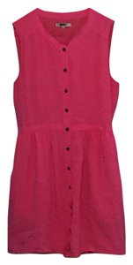 Madewell short dress Pink Mini Bright Shift on Tradesy