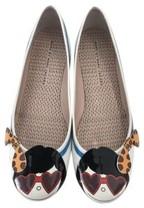 Marc by Marc Jacobs White/ Multi Flats