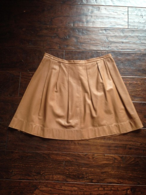 Rebecca Taylor Leather Mini Skirt Camel