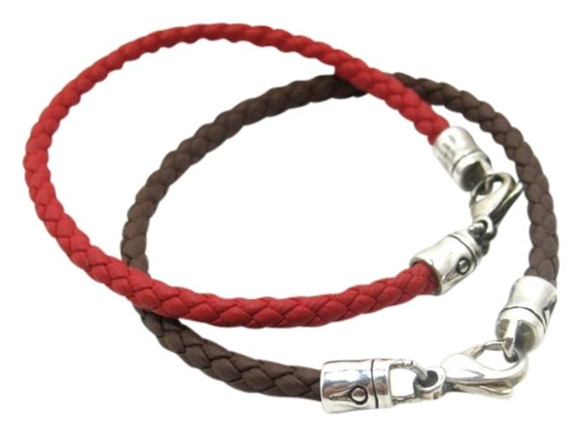 Item - Brown/ Red Braided Charm Bamboo Collection Bracelet