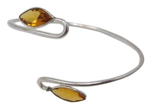 Other Delicate Citrine Gemstone Cuff Bracelet w Free Shipping
