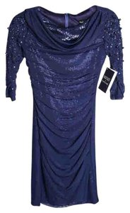 Badgley Mischka Sequence Long Sleeve Dress