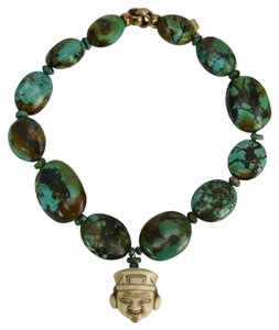 Genuine Turquoise and Netsuke Necklace