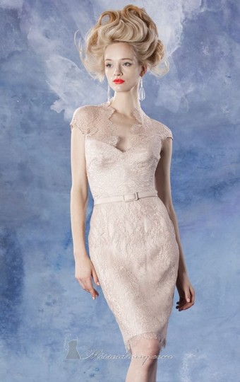 Theia Shell Lace 881679 Vintage Bridesmaid/Mob Dress Size 12 (L)