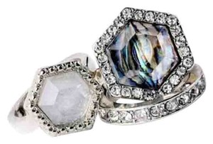 New 3pc Opal Antique/Vintage Style Stackable Ring Set SZ 7