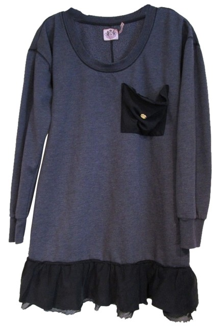 Preload https://item1.tradesy.com/images/juicy-couture-gray-ruffle-dress-tunic-sweaterpullover-size-6-s-1535780-0-0.jpg?width=400&height=650