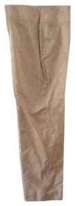 Giorgio Armani Silk Blend Chic Pink Straight Pants Beige