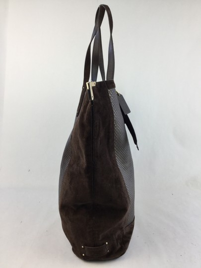 Coach Leather Suede Tote in Brown