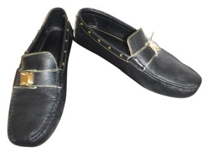 Louis Vuitton Logo black Flats