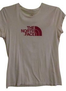 The North Face T Shirt White/Fushia