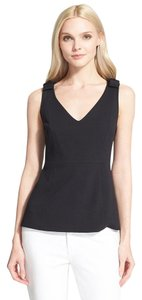 Kate Spade Bow Peplum Classic Date Night Top Black