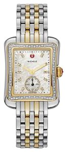 Michele Brand new authentic Michele Deco Moderne II 16 Diamond Two-Tone, Diamond Dial Watch