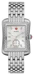 Michele BRAND NEW AUTHENTIC MICHELE MOP Deco Moderne II 16 Diamond Two-Tone, Diamond Dial Watch