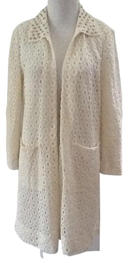 afc37ed1c713 Zara Off White Lace Spring Summer With Pockets Sizes M Trench Coat ...