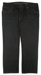 American Eagle Outfitters 5 Pocket Style Zip Fly Straight Leg Jeans-Dark Rinse