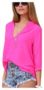 Other Wear To Work Women Sexy Lightweight Tuck In Top Pink