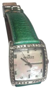 Skagen Denmark Vintage Square Crystal Face Watch #N526SSLTE2A