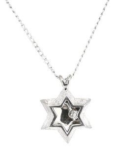 Other 14K White Gold Diamond Star Pendant Necklace 2.6 Grams 15