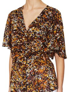 BCBGMAXAZRIA Button Down Shirt orange