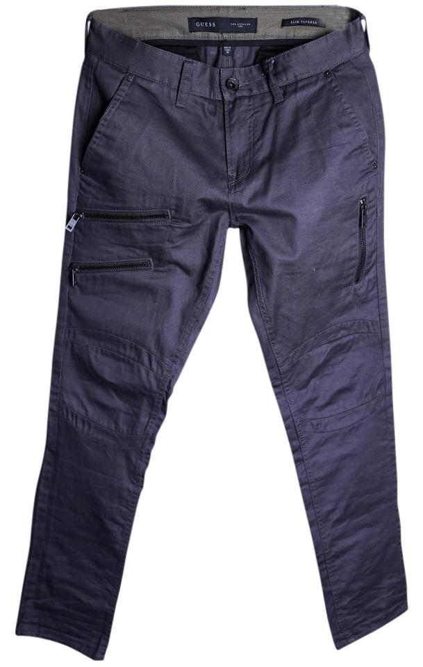 newest selection best sale new release Guess Gray Zip Biker Chino Slim Tapered Pants Mens Cargo Jeans Size 30 (6,  M) 35% off retail
