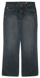 Guess 5 Pocket Style Zip Fly 100% Cotton Boot Cut Jeans-Medium Wash