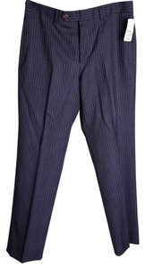 Brooks Brothers * Brooks Brothers Fitzgerald Fit Blue Linen Trousers Size w30/L29