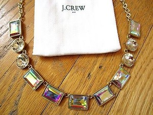 J.Crew J Crew Crystal Kaleidoscopic Iridescent Gold Statement Necklace Jewelry