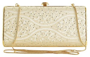 Judith Leiber Cream Clutch