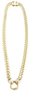 David Yurman David Yurman 18K Gold Double Wheat chain loop necklace