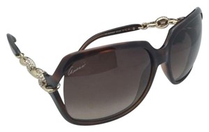 Gucci New GUCCI Sunglasses GG 3584/N/S 0KSJ6 Tortoise & Gold Frame w/Crystals & Brown Gradient Lenses