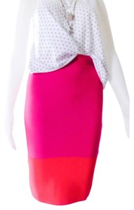 BCBGMAXAZRIA Skirt Pink & Red