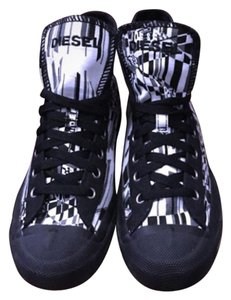 Diesel Black white and gray Athletic