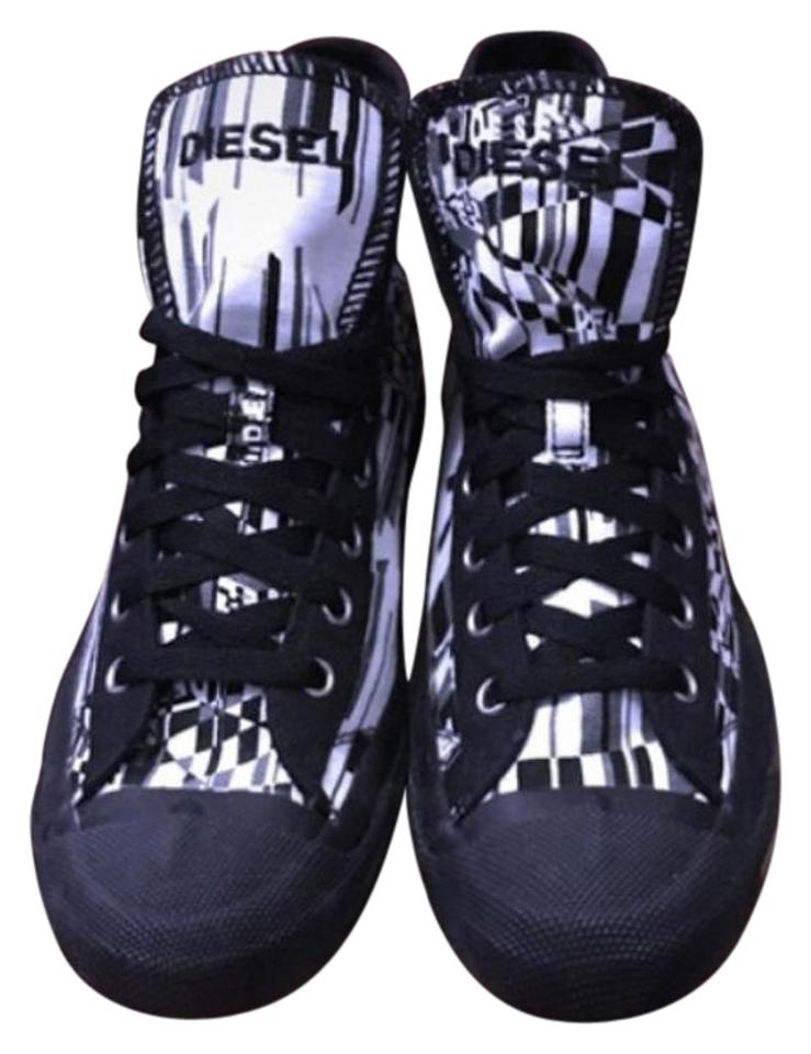 ab6e9e065321 Diesel Black White and Gray Magnete Exposure Hi-top Sneaker Sneakers ...