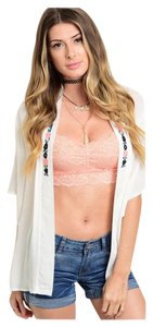 Other Bralette Bustier Bra Lace Top Peach