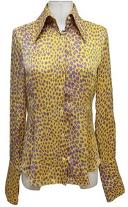 Dolce&Gabbana Button Down Shirt Yellow, Purple