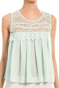 New with Tags - Top Lovely Top Mint Lace Top